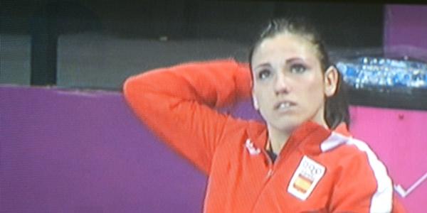 Carmen Martín ha destacado por su juego y por su belleza, incluso en el sufrimiento de la lesión