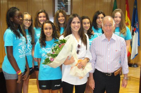Con las niñas del BM Roquetas