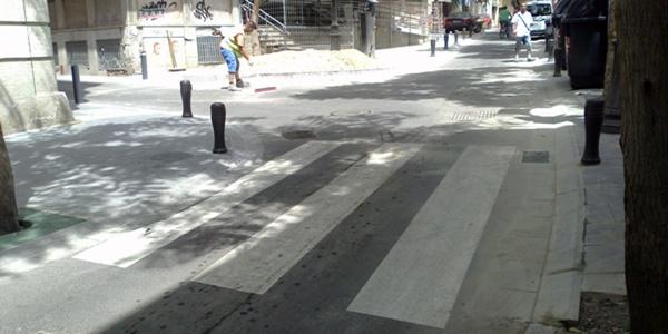La asociación Verdiblanca denuncia que las obras del centro de Almería empeoran la accesibilidad
