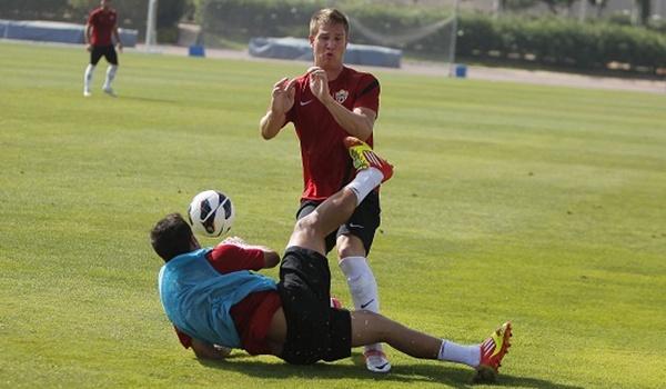 La UD Almería finalmente perdió el partido de entrenamiento ante su filial de Segunda División B