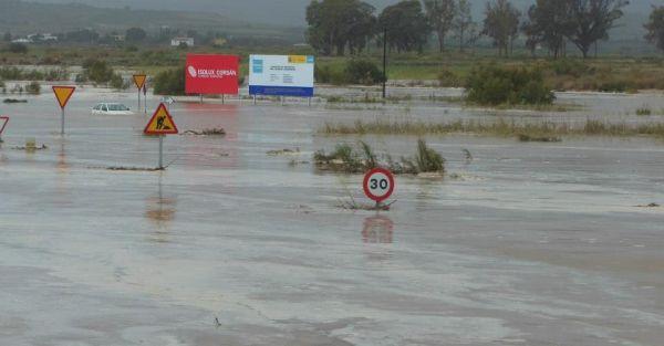Dispositivo especial de carreteras en Almería ante la alerta naranja por lluvias