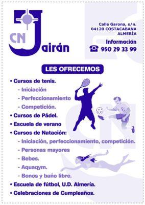 El Club Jairán de Almería plantea gran número de actividades en este curso