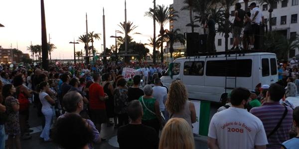 Diego Cañamero concluyó con un explícito discurso la marcha obrera en Almería