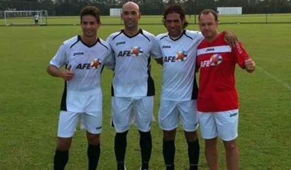 Ortiz Bernal se ha reunido con cuatro exjugadores de la UD Almería en Sesiones AFE