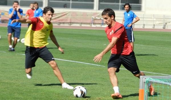 El joven madrileño Abel Molinero no está contando para el míster de la UD Almería