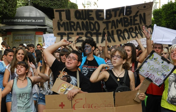Los estudiantes de Almería han vuelto a salir a la calle