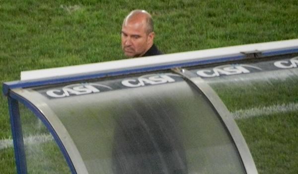 El entrenador del Córdoba CF salió derrotado del Estadio de los Juegos Mediterráneos de Almería
