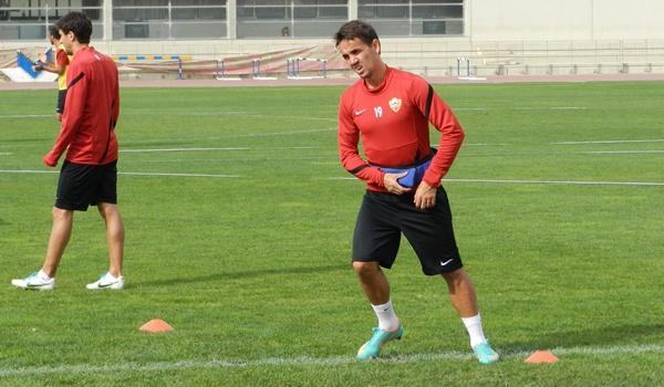 El interior de la UD Almería podría jugar de mediapunta en Los Pajaritos ante el Numancia de Soria
