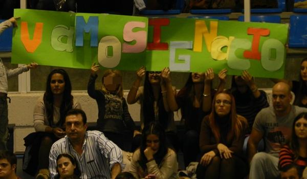 El colocador almeriense tiene muchos seguidores fieles de Unicaja en el Moisés Ruiz