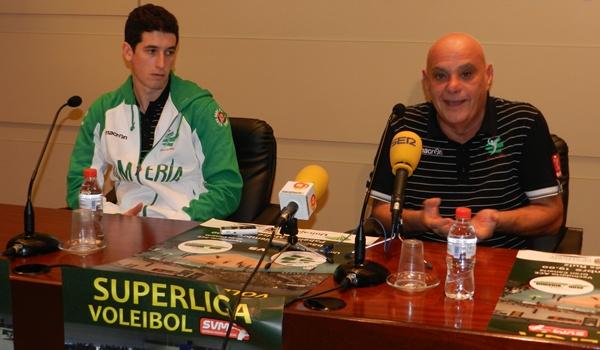 El míster italiano de Unicaja y el colocador almeriense hablan de su próximo compromiso de Superliga