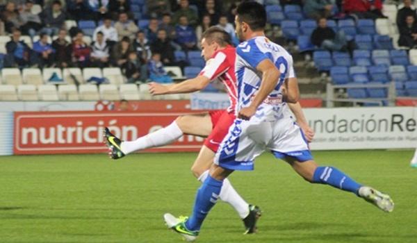 El jugador del Almería B ha hecho un golazo en el Nuevo Colombino