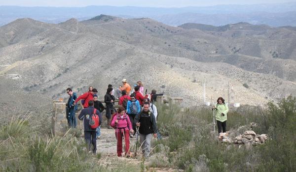 Más de cien senderistas han hecho la ruta de la Alpujarra de Almería