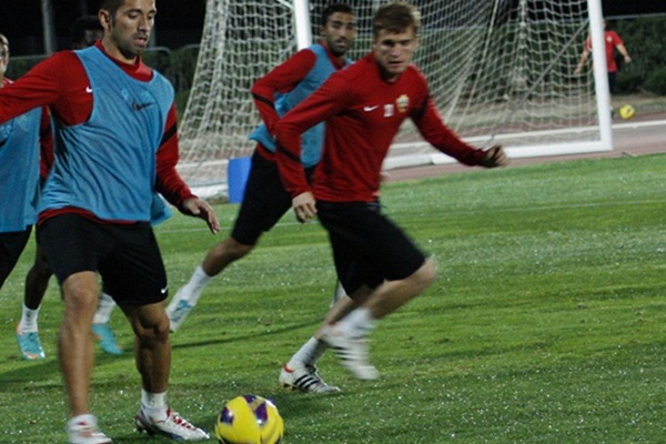 La UD Almería empieza la semana del Murcia