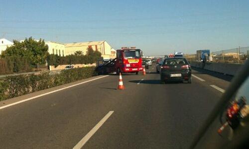 Dos choques múltiples en la autovía a su paso por El Ejido