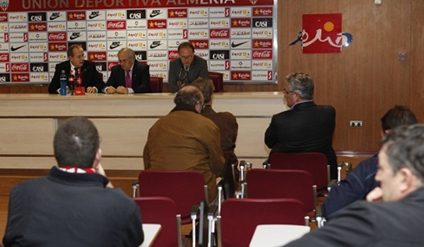 El presidente de la UD Almería ha aprobado un presupuesto de 9,5 millones de euros para esta Liga Adelante