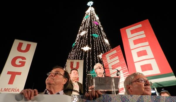 UGT y CCOO, junto a la Cumbre Social de Almería, han convocado una manifestación por el centro de la capital