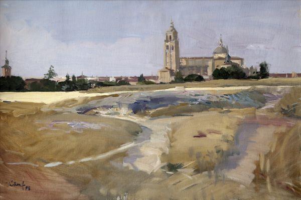 El artista García Ibáñez dona una de sus obras a una hermandad de Olula del Río