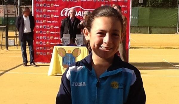 La jugadora del Club de Tenis El Ejido es subcampeona de Andalucía categoría benjamín