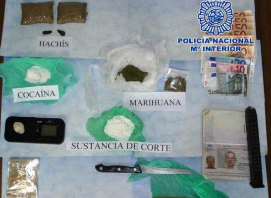 Droga y efectos intervenidos