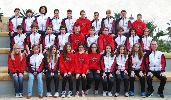 Natación en Andalucía en categorías de base