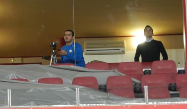 El míster del Almería B estuvo sancionado esta jornada en Segunda División B