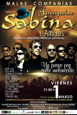 Cartel tributo a Sabina