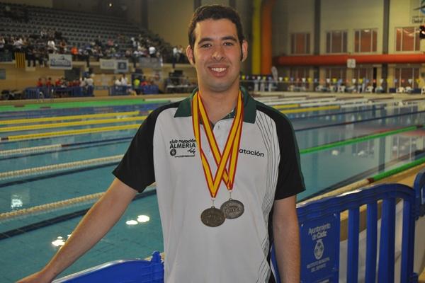 Nadador de Almería triunfa en Cádiz en los campeonatos de Andalucía de natación adaptada