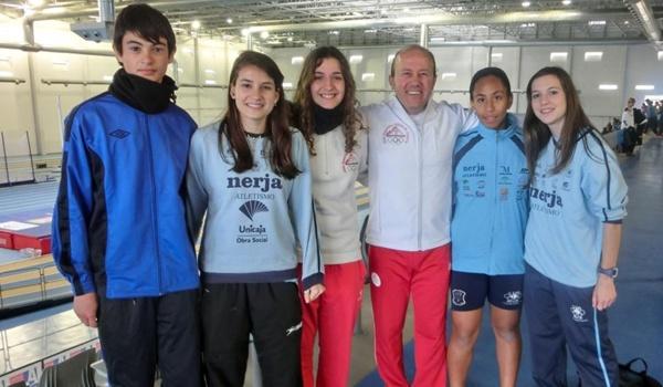 Atletas de Almería en el Campeonato de Andalucía de triple salto