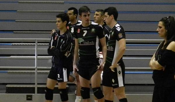 Receptor de Unicaja Almería de voleibol en semifinales de la Superliga ante Soria Numancia Voley