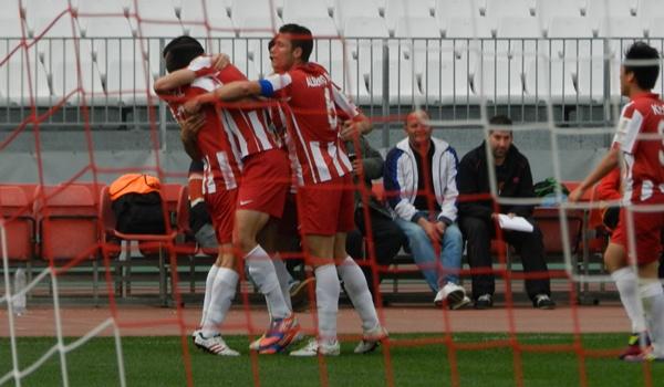 Partidazo en Segunda División B filial rojiblanco ante el líder Cartagena