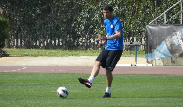 El entrenador de la UD Almería antes de visitar al Real Murcia en la Liga Adelante