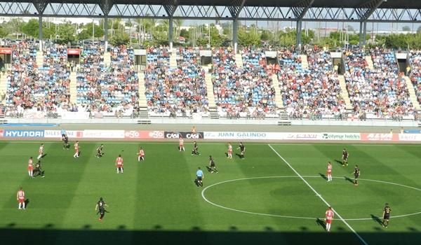 Fiesta en el UD Almería - Girona por un ascenso a Primera División
