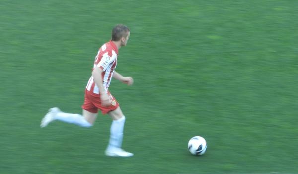 Llegado de Uruguay a España con el Almería en Liga Adelante