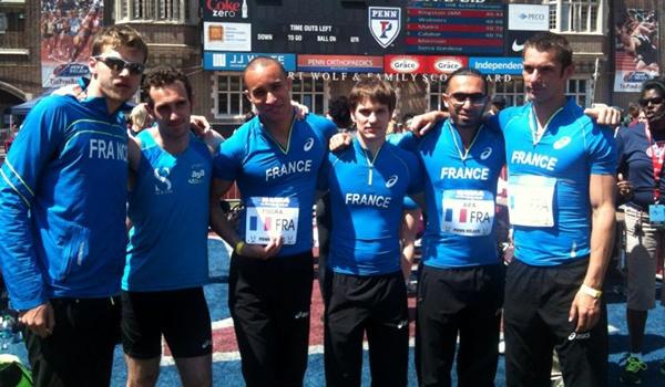 Equipo de relevos de velocidad de Francia en EEUU con atleta que entrena en Almería