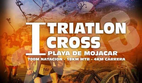 Primera Prueba del triatlon cross Playa de Mojácar en Almería
