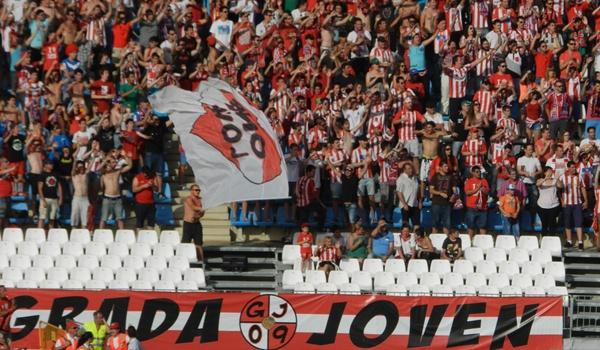 La afición del Almería quier el ascenso ante el Girona