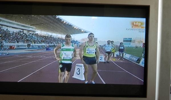 Meeting Iberoamericano de Atletismo en Huelva, atleta de Almería