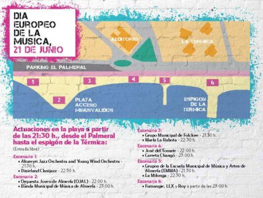 Mapa Día de la Música
