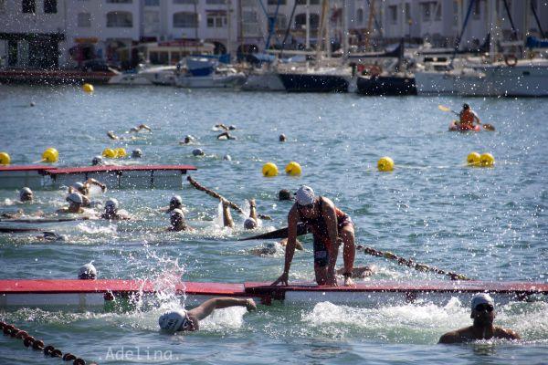 obstaculos de la prueba natacion