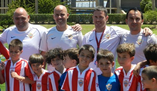 Preparadores de la cantera de la UD Almería para Primera y Segunda B