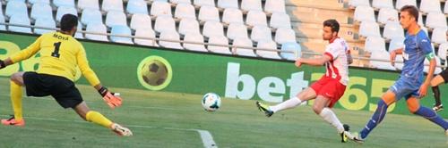 El Almería empata en el Coliseum Alfonso Pérez