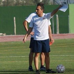 Entrenador de la UD Almería en categoría cadete