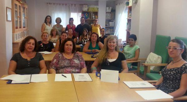 alumnas curso auxiliar ayuda a domicilio Roquetas