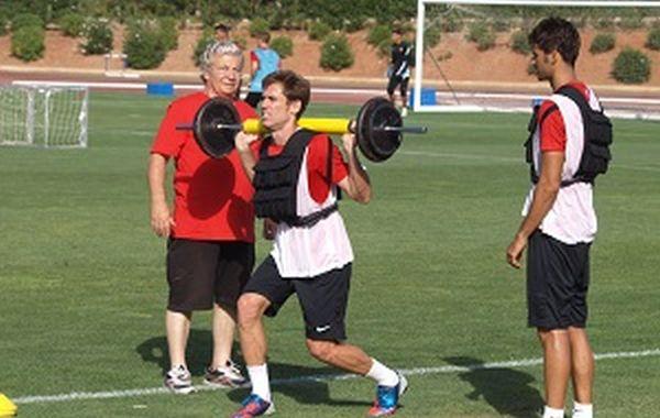 Corona entrenando UD Almería