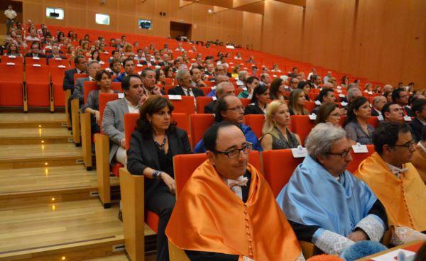 El Paraninfo de la UAL durante la apertura oficial del curso