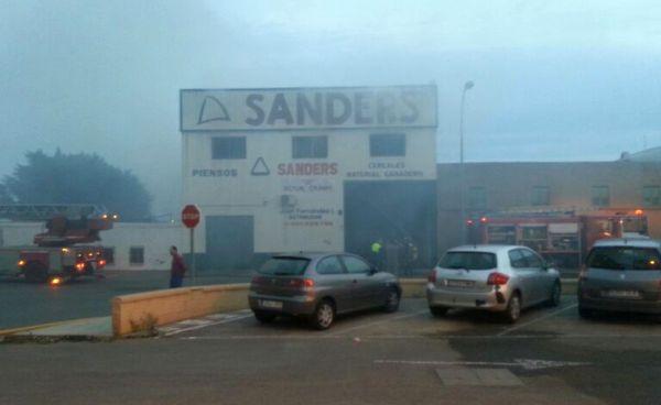 Incendio en Sanders