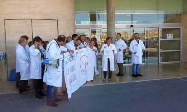 Protesta de los trabajadores del SAS en H. Overa