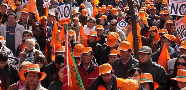 manifestación UPA