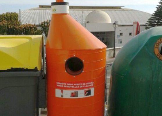 Contenedor aceite usado