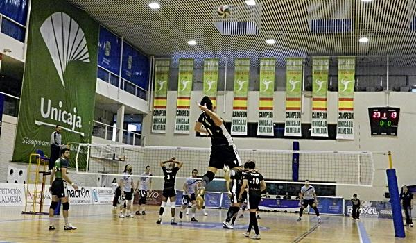 Imagen de la semifinal de la Superliga de Voleibol en Almerría